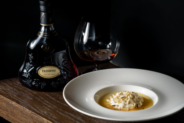 Food and product photography Millesime World Pedro Bargero Dessert Hennessy Cognac