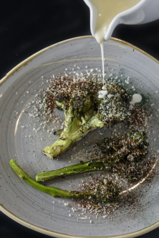 Food and product photography LEI Britain Meets Mexico Dinner Broccolini