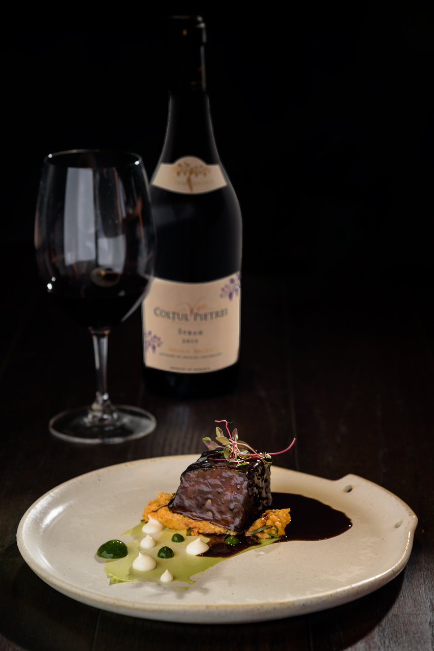 Food and product photography Millesime Criterion Meat Wine