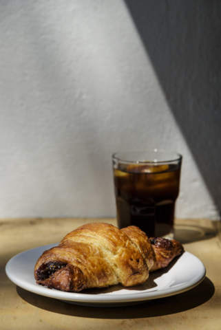 Food and product photography Mariola Croissant Cold Brew Fig Pastries Sweets Breakfast