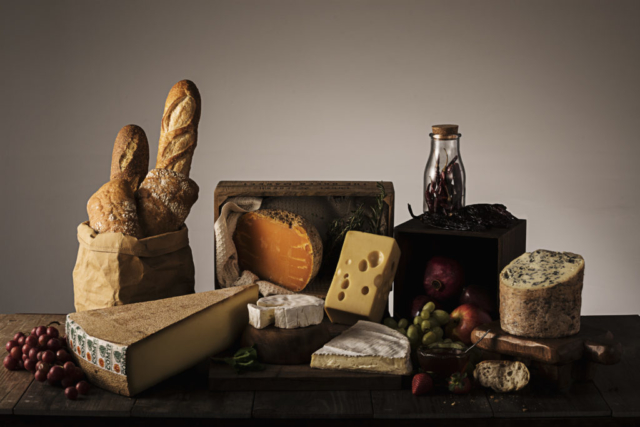 Food and product photography french cheese nature fruit