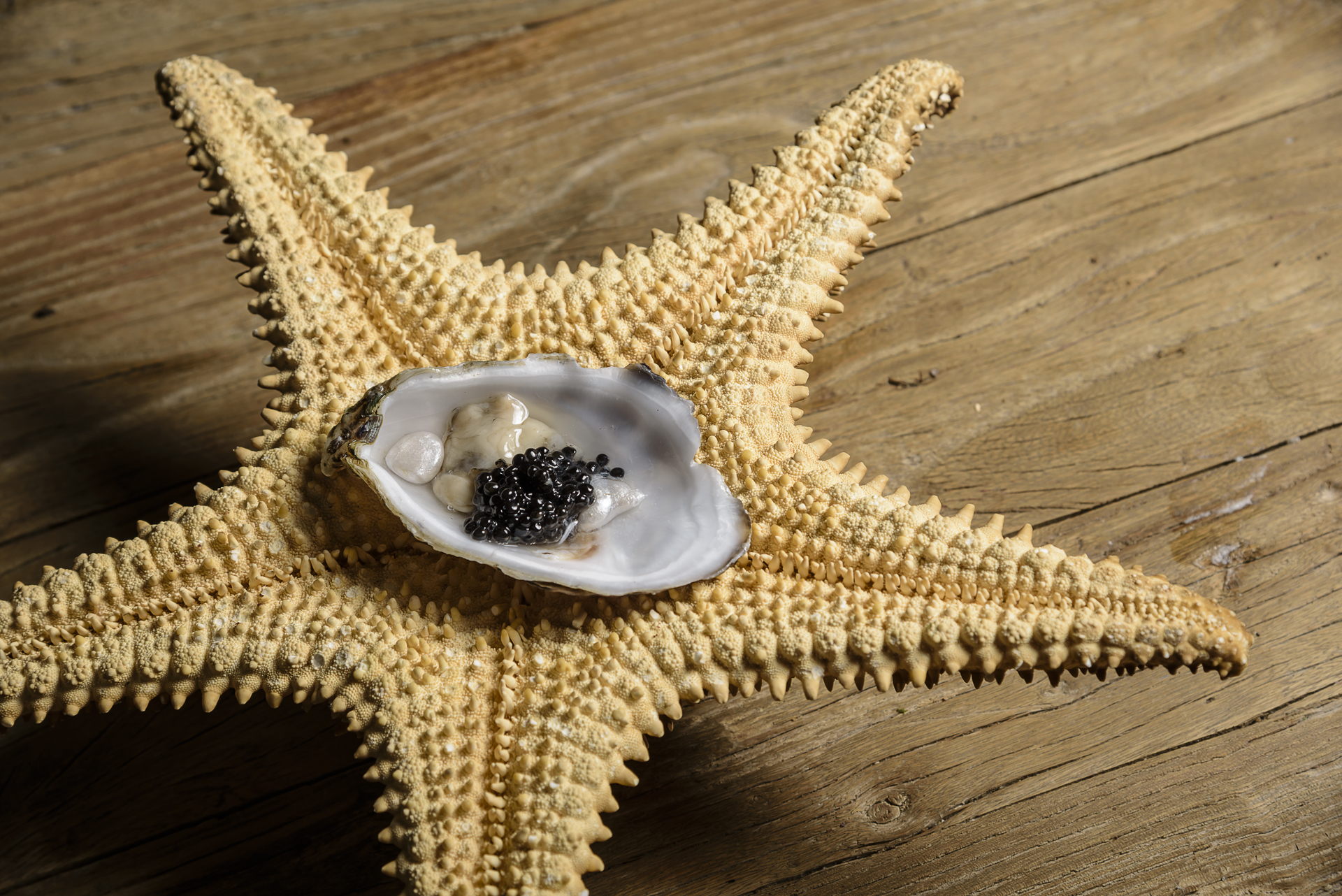Food and product photography Millesime Oyster Caviar Pearls