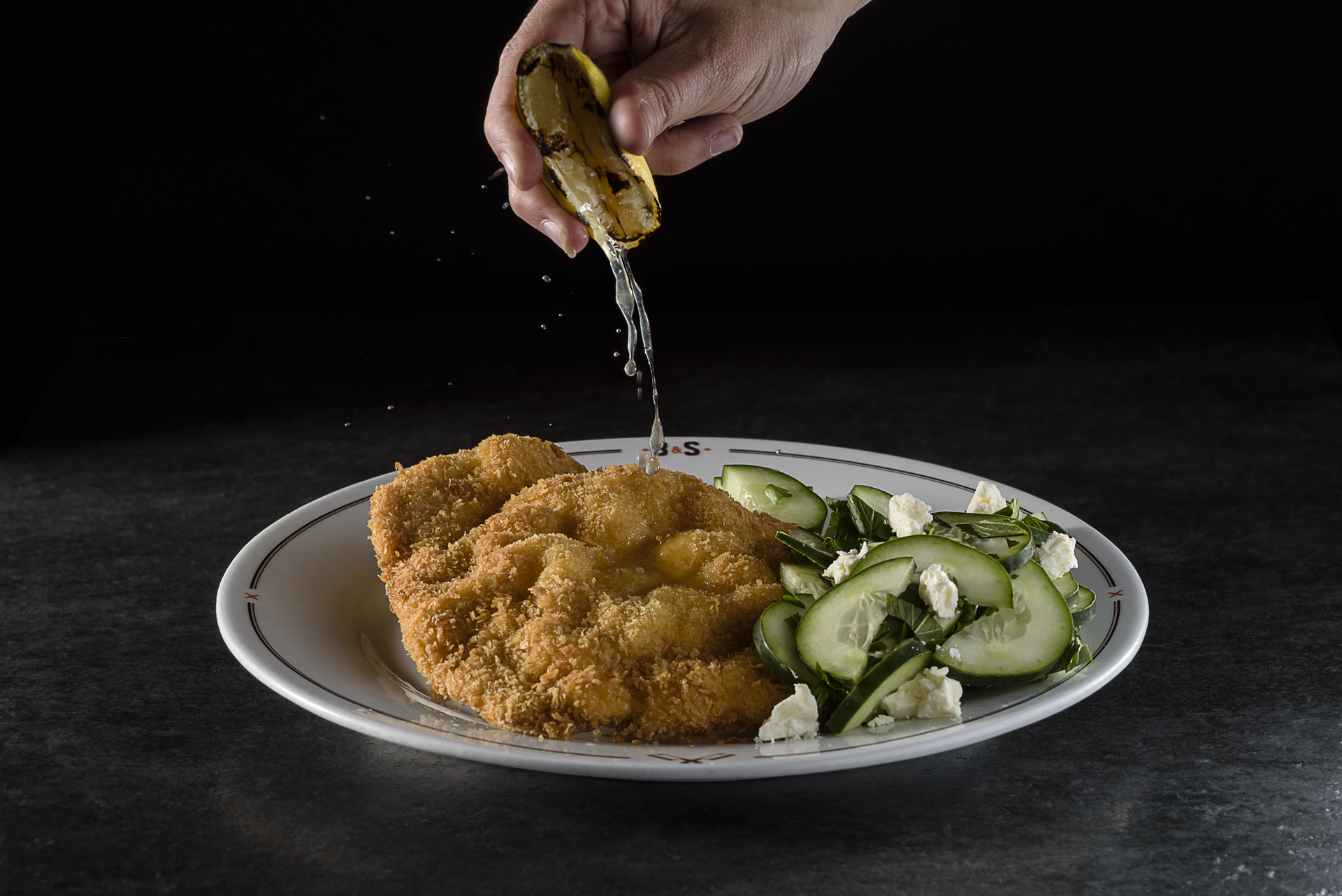 Food and product photography Butcher and Sons Schnitzel Lemon