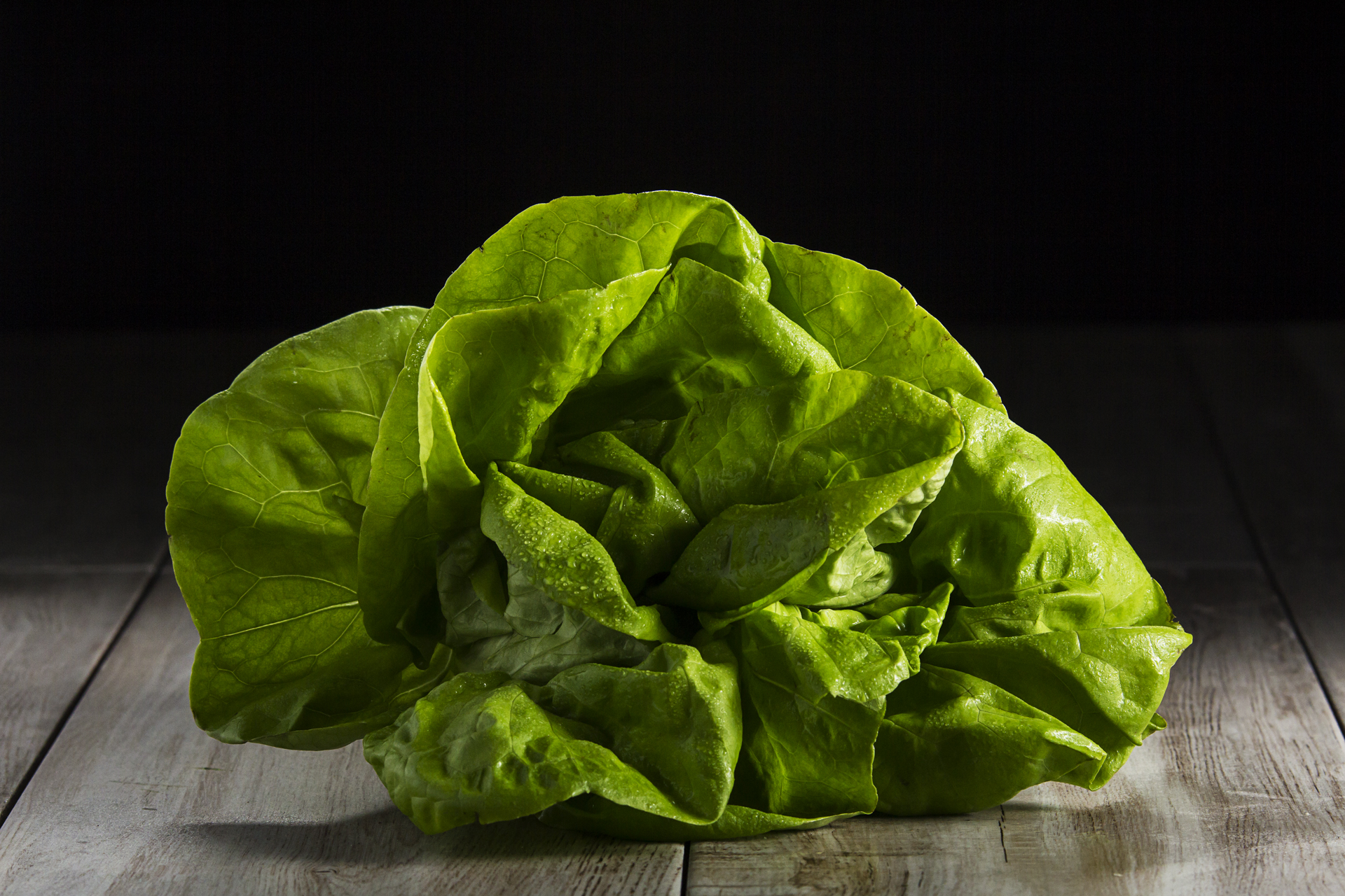 Food and product photography lettuce lurpak butter